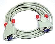 LINDY Kabel für Chipkartenleser 9 pol. 1:1 Kupplung/Kupplung 2m