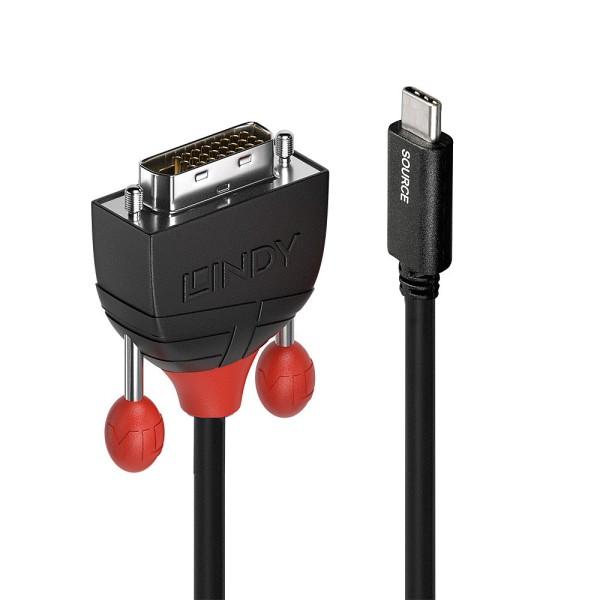 LINDY USB Typ C an DVI Adapterkabel 2m