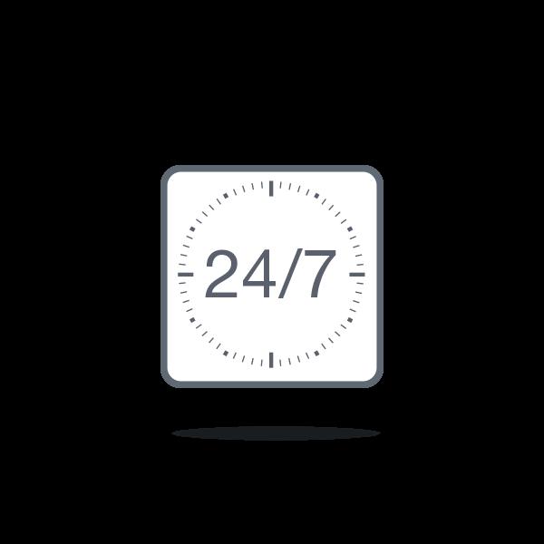 24/7 rund um die Uhr einsatzbereit