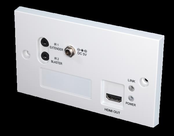 LINDY 70m C6 HDBaseT Extender Pro - Wanddosen-Receiver
