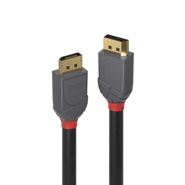 LINDY 0.5m DisplayPort 1.4 Kabel, Anthra Line