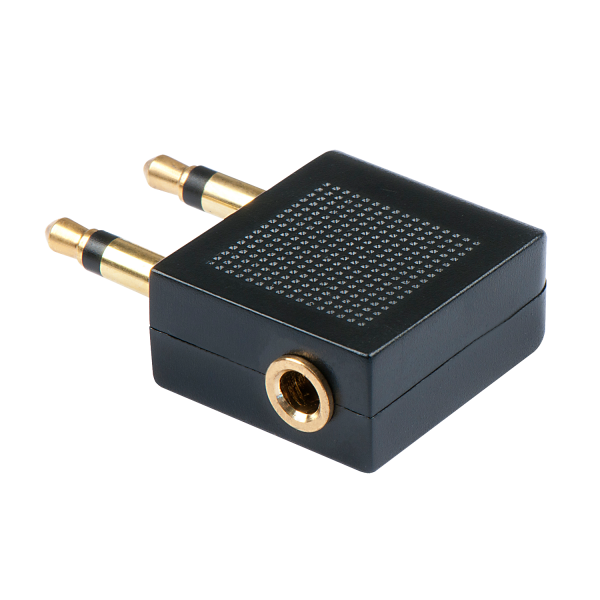 LINDY Stereo Audio-Adapter, 2x 3.5mm Klinkenstecker an 3.5mm Klinkenbuchse