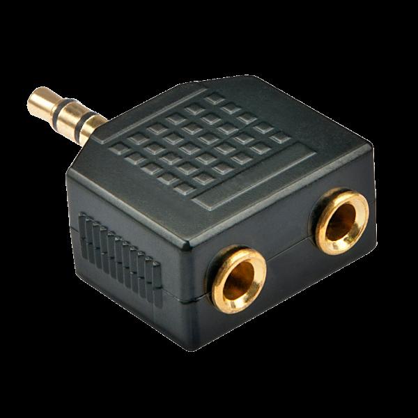 LINDY Stereo Audio-Adapter, 2x 3.5mm Klinkenbuchse an 3.5mm Klinkenstecker