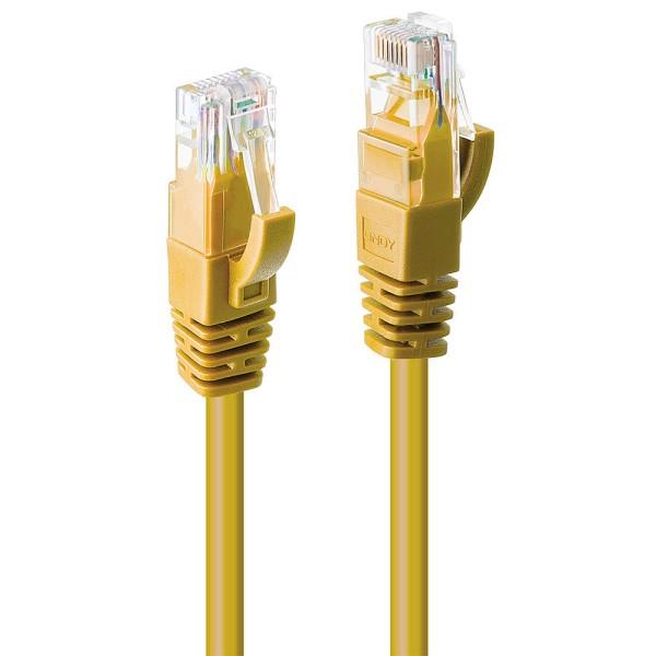 LINDY 3m Cat.6 U/UTP Netzwerkkabel, gelb