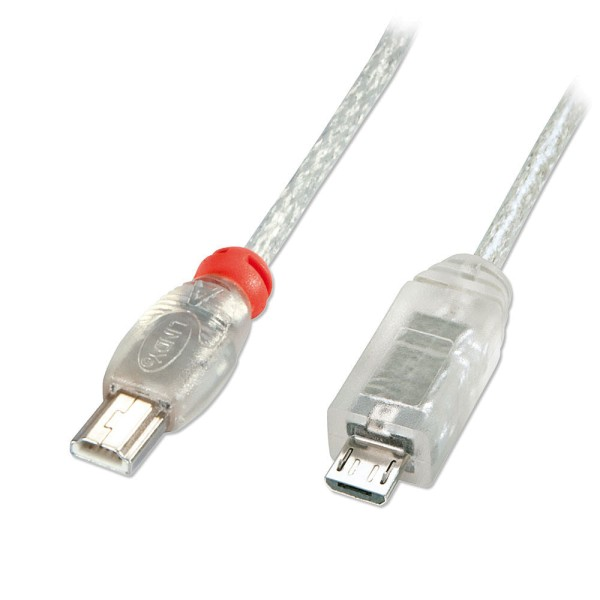 LINDY USB 2.0 Kabel Mini-A/Micro-B, 0,5m