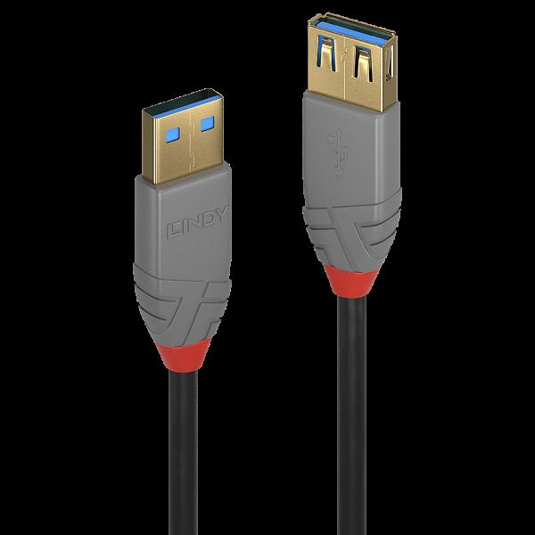 LINDY 0,5m USB 3.0 Typ A Verlängerungskabel, Anthra Line