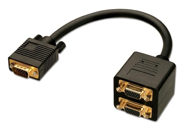 LINDY VGA Splitterkabel, 2 Port