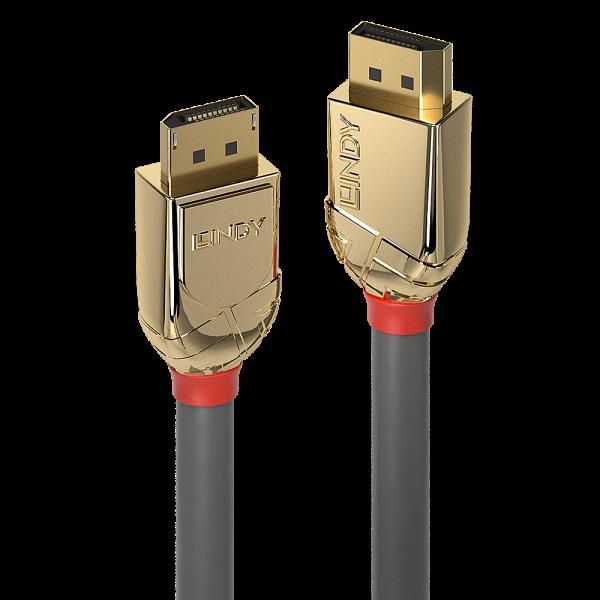 LINDY 2m DisplayPort 1.4 Kabel, Gold Line
