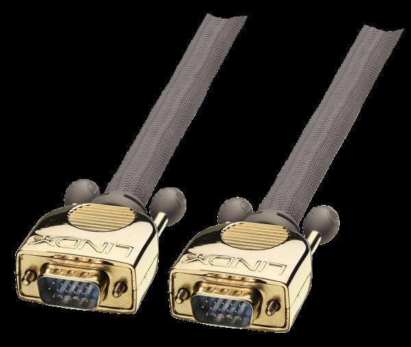 LINDY GOLD VGA Kabel M/M 2m