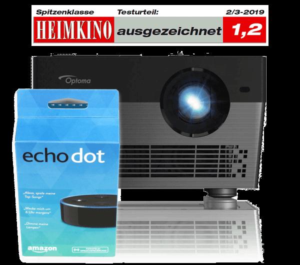 Optoma UHL55 LED Beamer mit 4K HDR inkl. Alexa echodot