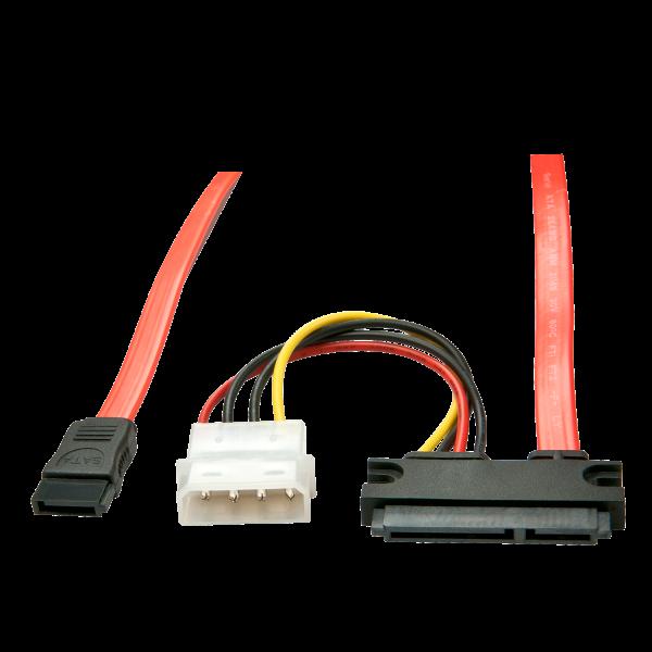 LINDY 0.3m Internes SATA-Kabel - Daten & Strom (5V)