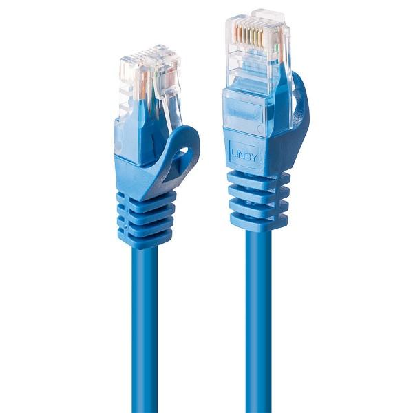 LINDY 10m Cat.6 U/UTP Netzwerkkabel, blau