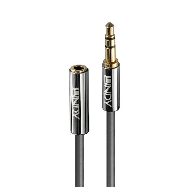 LINDY 0.5m 3.5mm Audio Verlängerungskabel, Cromo Line