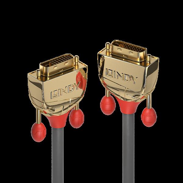 LINDY 1m DVI-D Dual Link Kabel, Gold Line