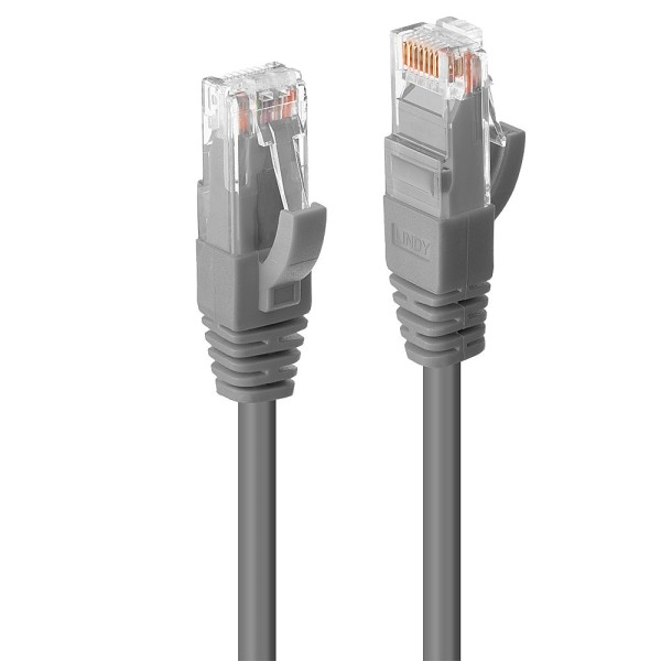 LINDY 15m Cat.6 U/UTP LSZH Netzwerkkabel, grau