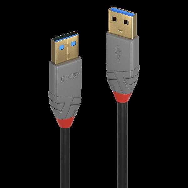 LINDY 0,5m USB 3.0 Typ A Kabel, Anthra Line