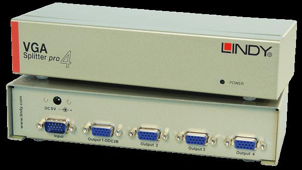 LINDY 4 Port VGA Splitter