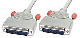 LINDY RS232 Kabel 1:1, 25 pol. Sub-D Stecker an 25 pol. Sub-D Stecker, 2m
