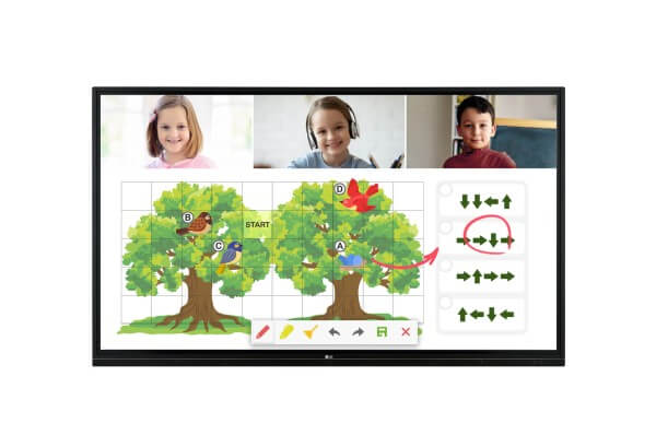 LG 75TR3BF-B - 4K - interaktives Digitaldisplay im Klassenzimmer