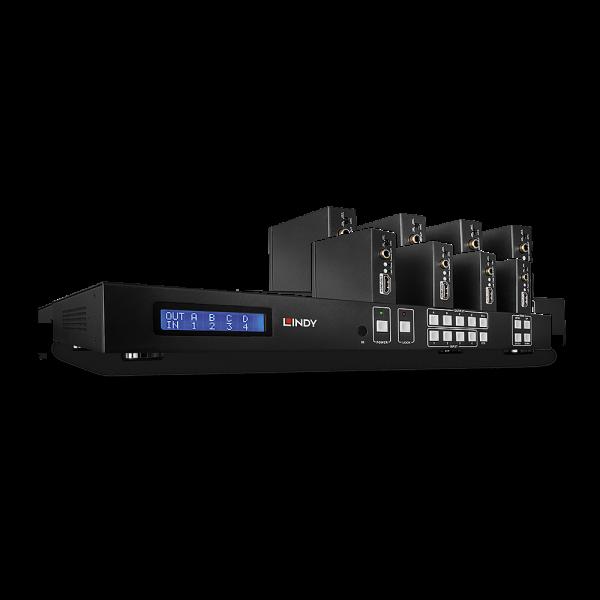 LINDY 50m Cat.6 4x4 HDMI & IR Matrix Extender