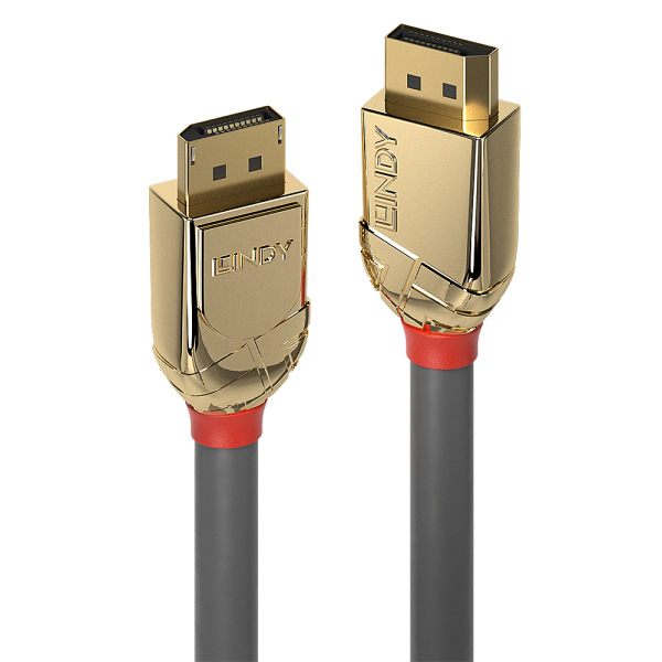 LINDY 7.5m DisplayPort 1.2 Kabel, Gold Line