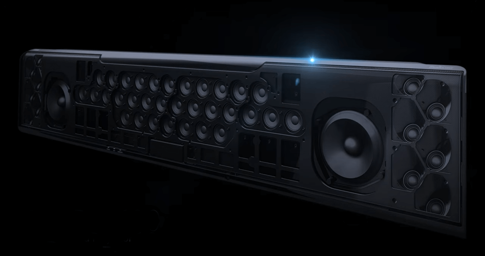yamaha ysp 5600 soundbar finish schwarz sehr hochwertig. Black Bedroom Furniture Sets. Home Design Ideas