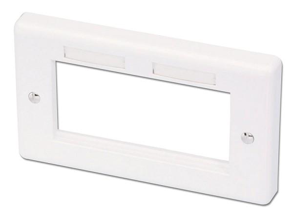 LINDY Wand-Doppeldose 146x86mm UK für 4 Snap-In-Module und AV-Extender