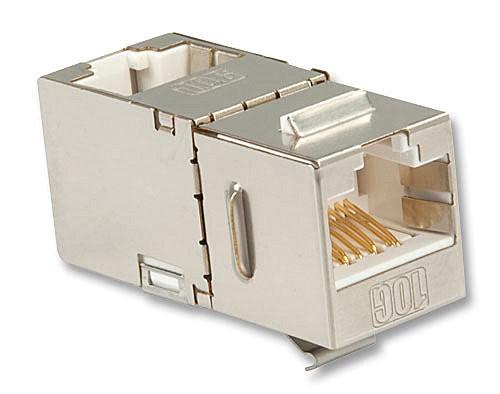 LINDY Cat.6A 10G Premium RJ45 STP Inline Coupler / Doppelkupplung 90°