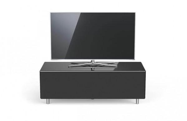 Spectral TV Möbel, schwarz, TV freistehend, Stoffront: schwarz