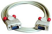 LINDY 9 pol. RS232 1:1 Kabel mit 9 pol. Sub-D Stecker an 9 pol. Sub-D Stecker, 2m