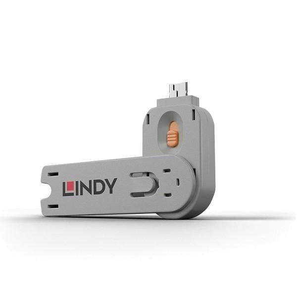 LINDY Schlüssel für USB Port Schloss, orange