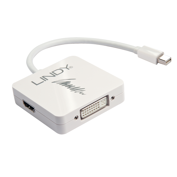 LINDY Mini DisplayPort 1.2 auf DisplayPort 1.2, HDMI & DVI Konverter