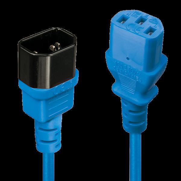 LINDY 0,5m IEC Verlängerung, blau