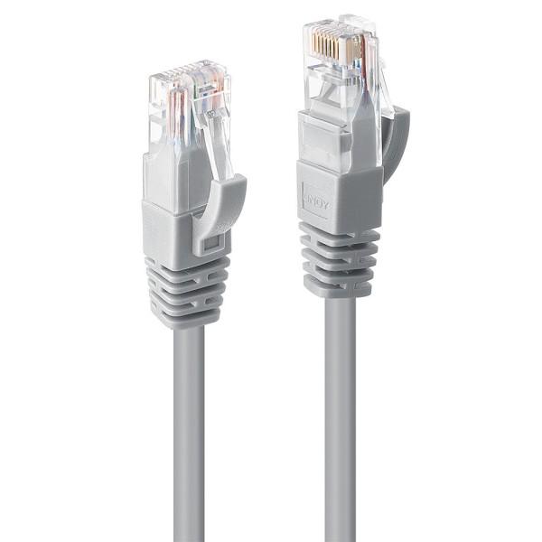 LINDY 1m Cat.6 U/UTP Netzwerkkabel, grau, 50Stück