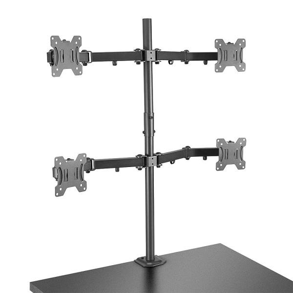 LINDY Tischhalterung für vier Monitore
