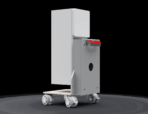 LG Presto HU80K . Rollwagen und Deckenhalterung