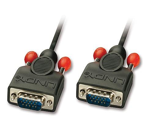 LINDY VGA-Anschlusskabel ohne Ferritkerne, 15-pol. HD Stecker/Stecker 1m