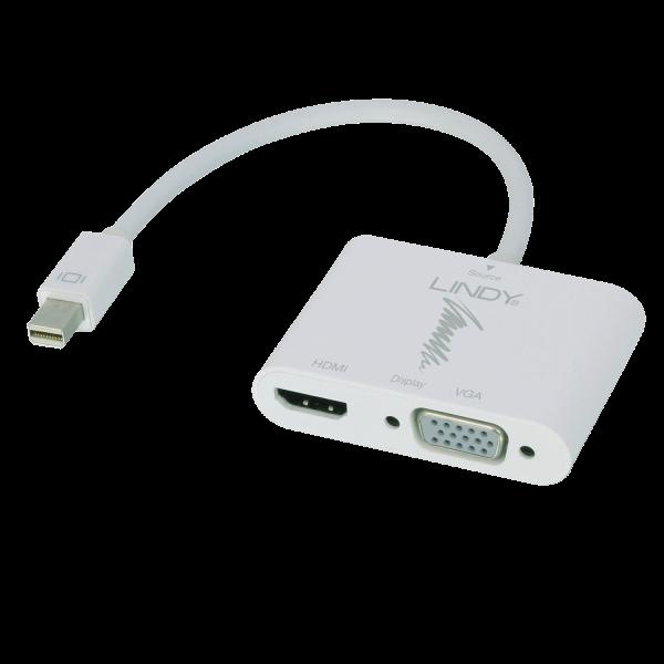 LINDY Mini DisplayPort auf HDMI & VGA Konverter