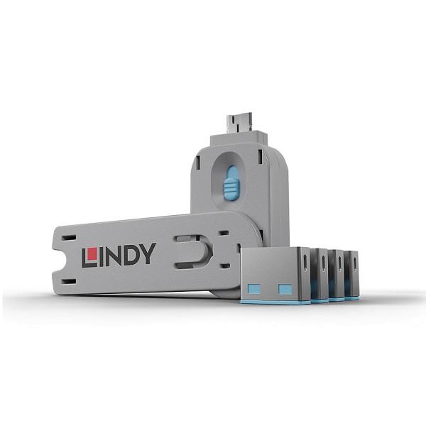 LINDY USB Typ A Port Schloss, blau