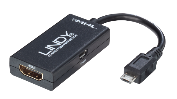 LINDY MHL an HDMI Adapterkabel für Smartphones, 0,15m