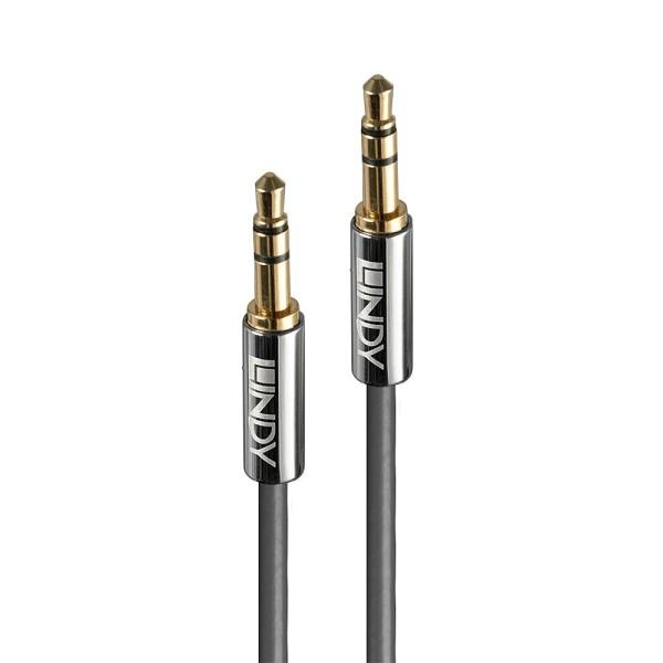 LINDY 0.5m 3.5mm Audiokabel, Cromo Line