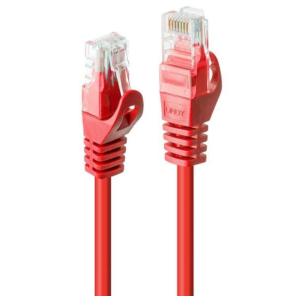 LINDY 3m Cat.6 U/UTP Netzwerkkabel, rot