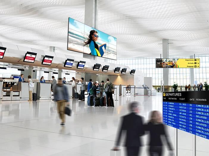Flughafen Infoterminal