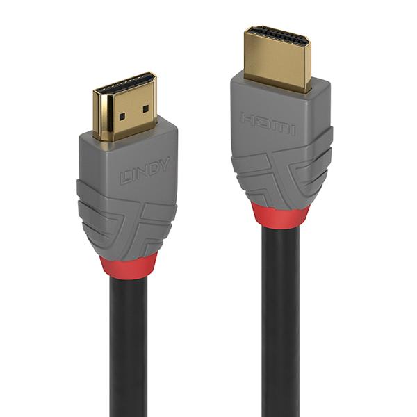 LINDY 0.5m HDMI High Speed HDMI Kabel, Anthra Line
