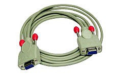 LINDY Nullmodem-Kabel 9 pol. Kupplung/Kupplung 10m