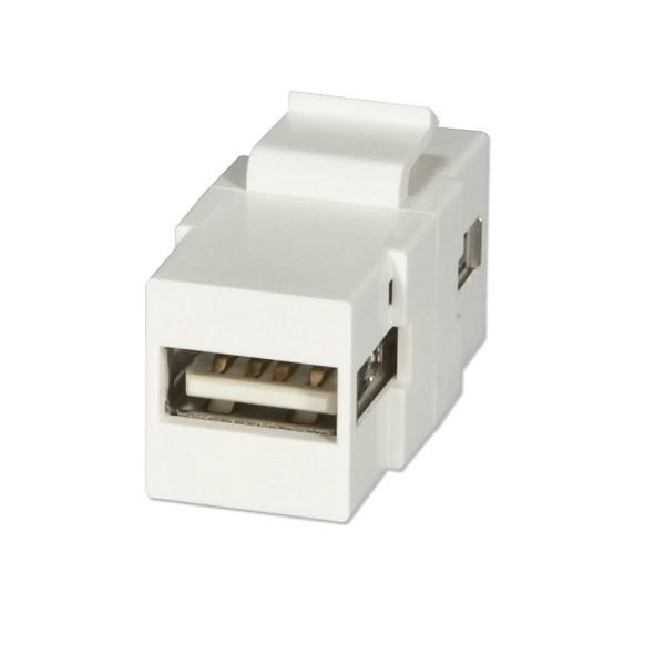 LINDY USB Typ A Doppelkupplungs-Keystone für Wanddosen