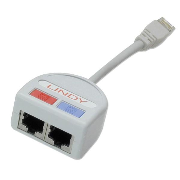 LINDY Port Doubler STP 1x Fast Ethernet 10/100 + 1x Telefon/Token Ring über ein 8-adriges Kabel