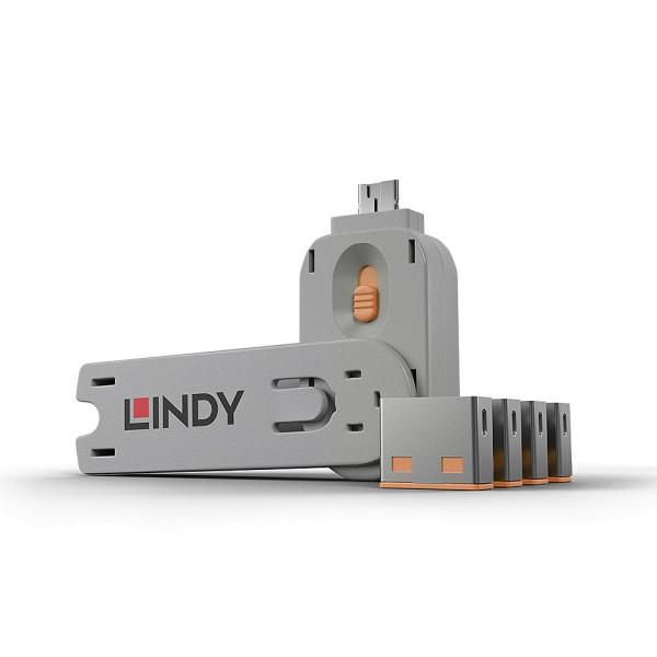 LINDY USB Typ A Port Schloss, orange