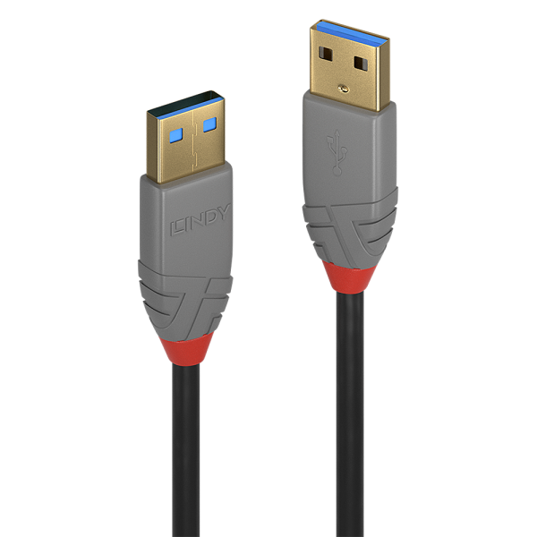 LINDY 3m USB 3.0 Typ A Kabel, Anthra Line