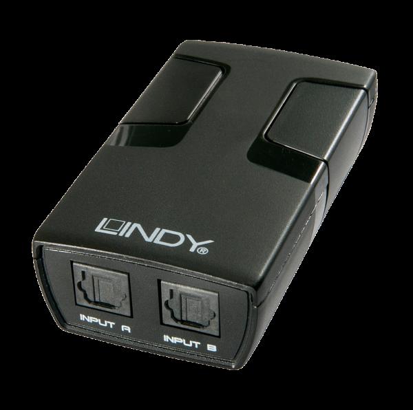 LINDY Automatischer Audioumschalter Toslink 2 Port